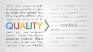 Quality content is worth more than quantity.